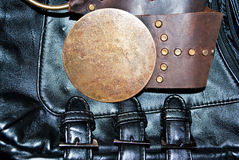 Detail of a belt and handbag Stock Images