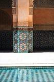 Detail from ben youssef medursa, marrakech Royalty Free Stock Photo