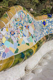 Detail of a bench in Park Guell Stock Photo
