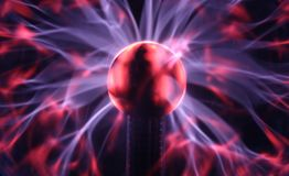 Detail über Plasmakugel Stockbilder