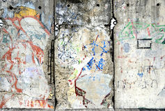 Detail of the Berlin Wall in Germany. Stock Photos