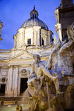 Detail of Bernini fountain in Rome Stock Photography