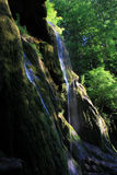 Detail of Beusnita Waterfall. Beusnita Waterfall in Bei Valley, Romania Royalty Free Stock Images