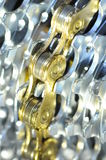 Detail of bicycle chain and sprockets Royalty Free Stock Photo