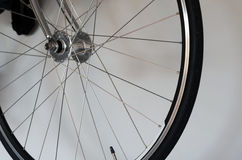 Detail of bicycle wheel Royalty Free Stock Photo