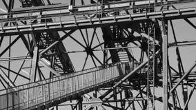 Detail of a big cable car pylon Royalty Free Stock Photos