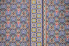 Detail of the big golden doors of the royal palace of Fez Royalty Free Stock Images