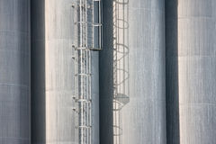 Detail of big silo's of a Dutch factory Royalty Free Stock Images