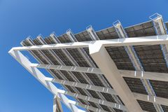 Detail of big solar panel at Barcelona, Spain Royalty Free Stock Image