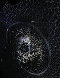Detail bij de Morfogenese 360 graden van koepel de Visuele kunsten installatie Stock Foto