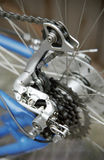 Detail of bike 2. The gearwheel of a bike in detail Stock Photos