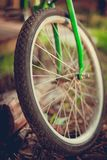 Detail of Bike Tire wheel stock image