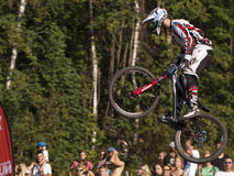 Detail of bikers on jumps - editorial Royalty Free Stock Photo