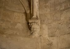 Detail binnen Castel Del Monte in Andria in zuidoostenitalië royalty-vrije stock fotografie