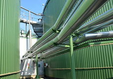Detail of biogas plant. Green energy stock photography