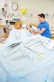 Detail of Birthing Surgical Tools Stock Photography
