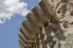Detail of Bishops Castle in Colorado. For nearly 60 years, this has been being built. Bishop castle is a monumental statue in stone and iron that cries loud Royalty Free Stock Photography