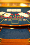 Detail of a blacjack table Royalty Free Stock Image