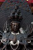 Detail of Black budha Stock Photos