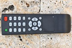 Remote Control. Detail of black remote Control stock image