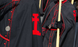 Detail black robe Stock Photos