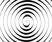 Detail of a black spiral on white Stock Photos