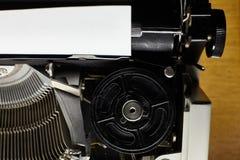 Detail of a black vintage typewriter. Detail of a black vintage  typewriter Stock Photography