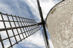 Detail of the blades of a windmill in Consuegra, province of Toledo, Castilla-La Mancha, Spain Royalty Free Stock Images