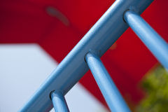 Detail of blue bars Royalty Free Stock Image