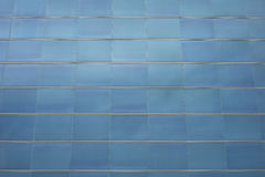 Detail of blue glass facade of a contemporary building Royalty Free Stock Photo