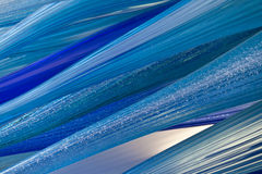 Detail of blue glass sculpture Murano, Italy Royalty Free Stock Image