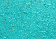 Detail of blue handmade paper or mulberry paper texture Royalty Free Stock Image
