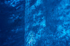Detail of blue ice wall inside glacier tunnel Royalty Free Stock Photography