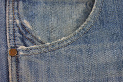 Detail of   Blue Jean Pants. Royalty Free Stock Photos