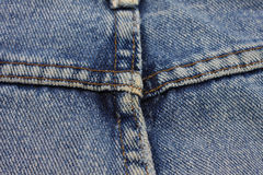 Detail of   Blue Jean Pants. Stock Photography