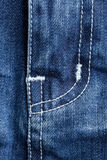 Detail of blue jeans Stock Image