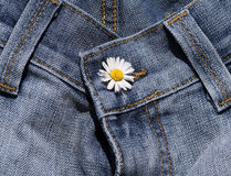 Detail of blue jeans Stock Photo