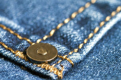 Detail of blue jeans close up Royalty Free Stock Photography