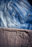 Detail of blue jeans man`s pants. Background Stock Photo
