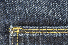 Detail of blue jeans trousers Stock Photos