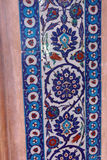 Detail of the blue mosaics decorating the    Rustem Pasha Mosque Royalty Free Stock Image