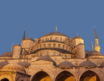 Detail of blue mosque royalty free stock image