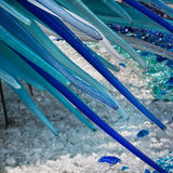 Detail of Blue Murano Glass Sculpture in Murano, Venice - Italy Stock Images