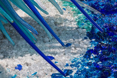 Detail of Blue Murano Glass Sculpture in Murano, Venice - Italy Royalty Free Stock Image