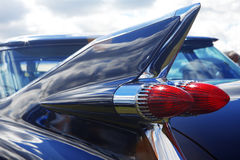 Detail of blue retro car Royalty Free Stock Photos