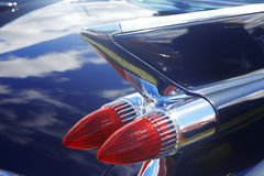 Detail of blue retro car Stock Image