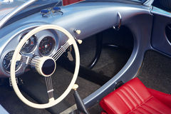 Detail of blue retro car Stock Photography