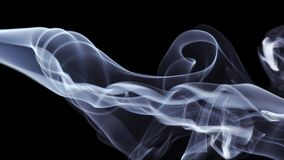 Blue Smoke on black background. Detail of Blue Smoke on black background Stock Photography