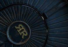 Door with monogram royalty free stock images