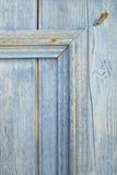 Detail of blue wooden door Royalty Free Stock Photos